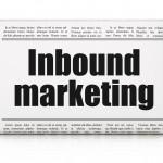 Business concept: newspaper headline Inbound Marketing