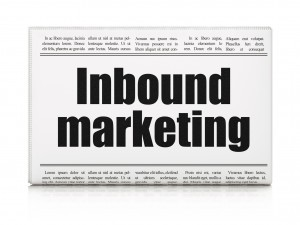 Business concept: newspaper headline Inbound Marketing