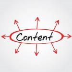 Content arrows directions vector concept, flow chart, diagram